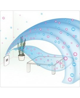 Inteligentny oczyszczacz powietrza z technologią jonów Plasmacluster i funkcją nawilżania