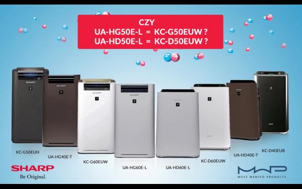 Jaki oczyszczacz powietrza Sharp wybrać?  Czym się różni UA-HG60E-L od KC-G60EUW, a czym UA-HD50E-L od KC-D50EUW?