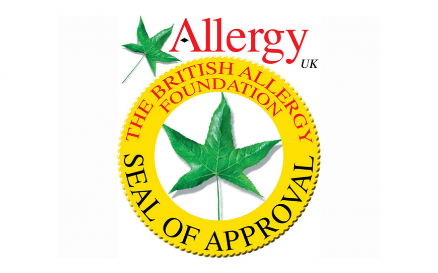 Certyfikat Seal of Approval od The British Allergy Foundation