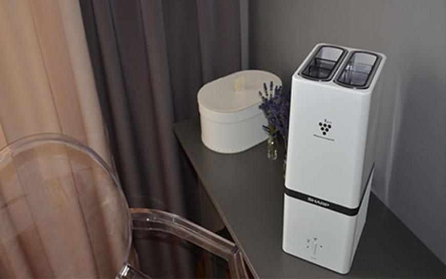 Generator jonów Sharp Plasmacluster rekomendowany przez portal cigaraficionado.com